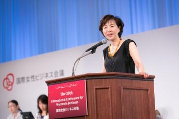 イー・ウーマンの代表・佐々木かをりさん (c)国際女性ビジネス会議