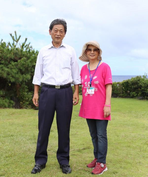 左:八丈町長 山下さん、右:ユニバーサルイベント協会 内山さん(筆者撮影)