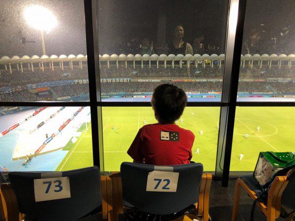落ち着いた空間でサッカー観戦